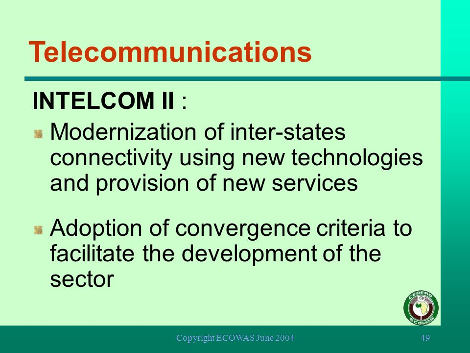 Telecommunications INTELCOM II :
