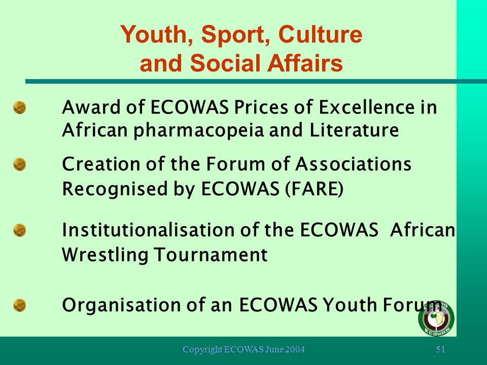Youth, Sport, Culture and Social Affairs
