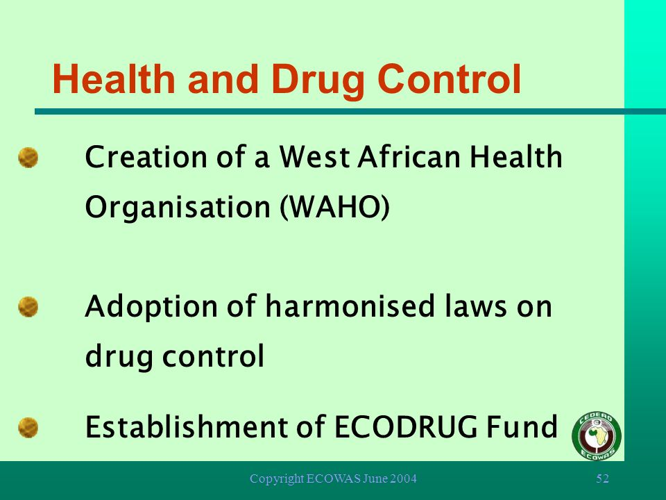 Health and Drug Control