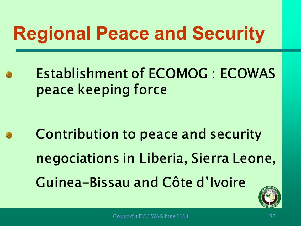 Regional Peace and Security