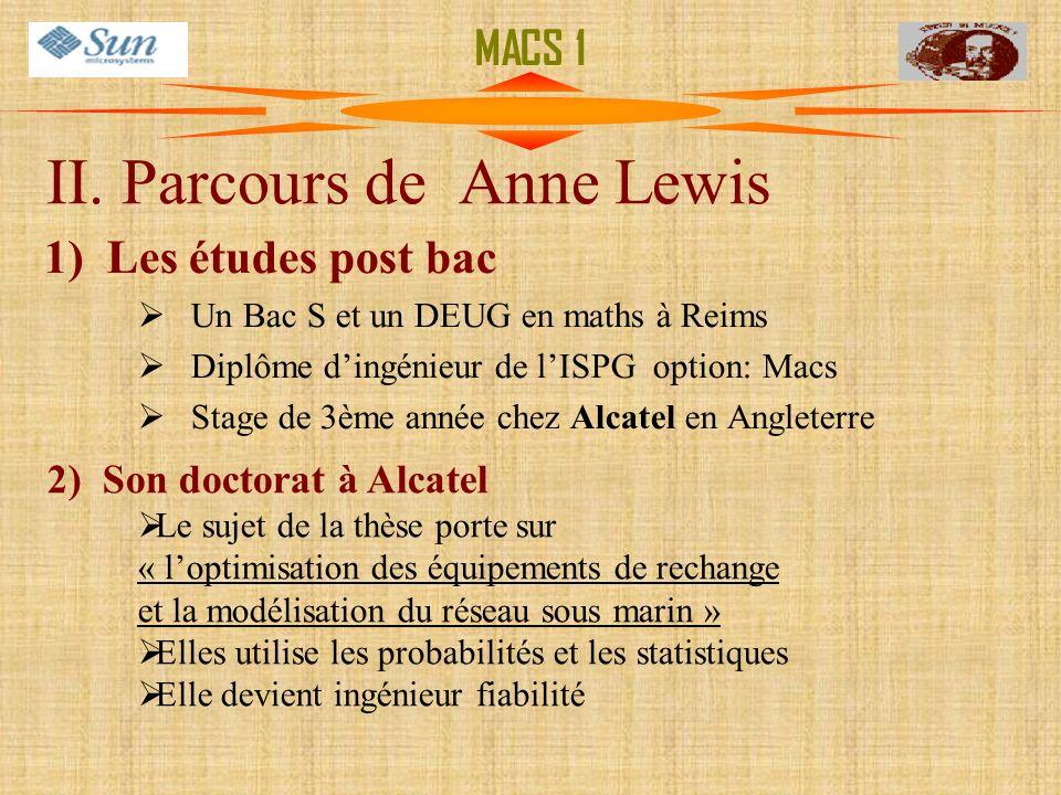 II. Parcours de Anne Lewis
