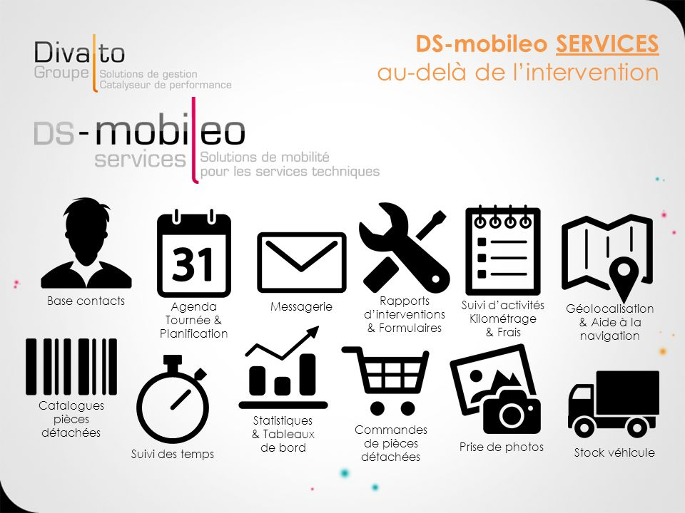 DS-mobileo SERVICES au-delà de l'intervention