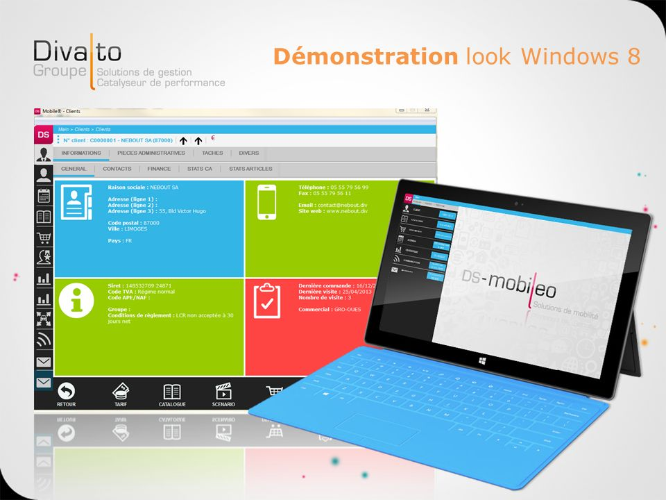 Démonstration look Windows 8