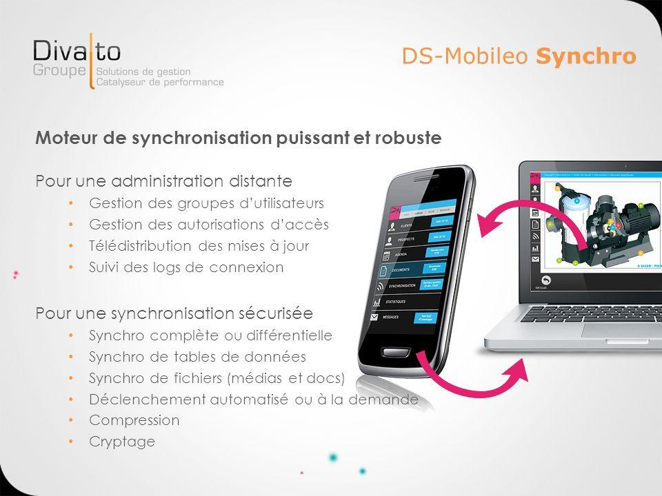 DS-Mobileo Synchro Moteur de synchronisation puissant et robuste