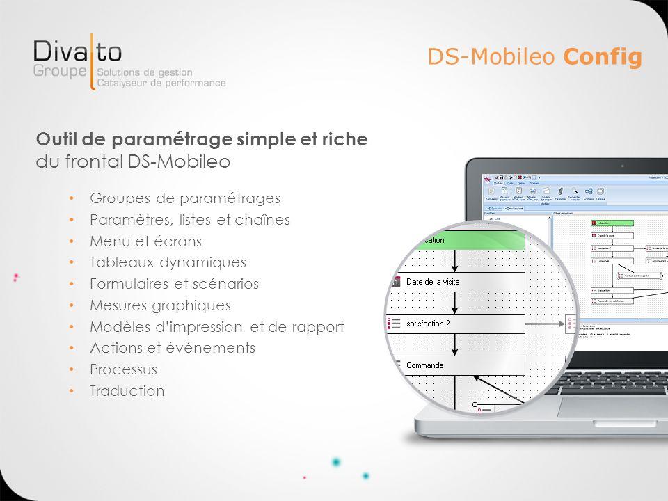 DS-Mobileo ConfigOutil de paramétrage simple et riche du frontal DS-Mobileo. Groupes de paramétrages.