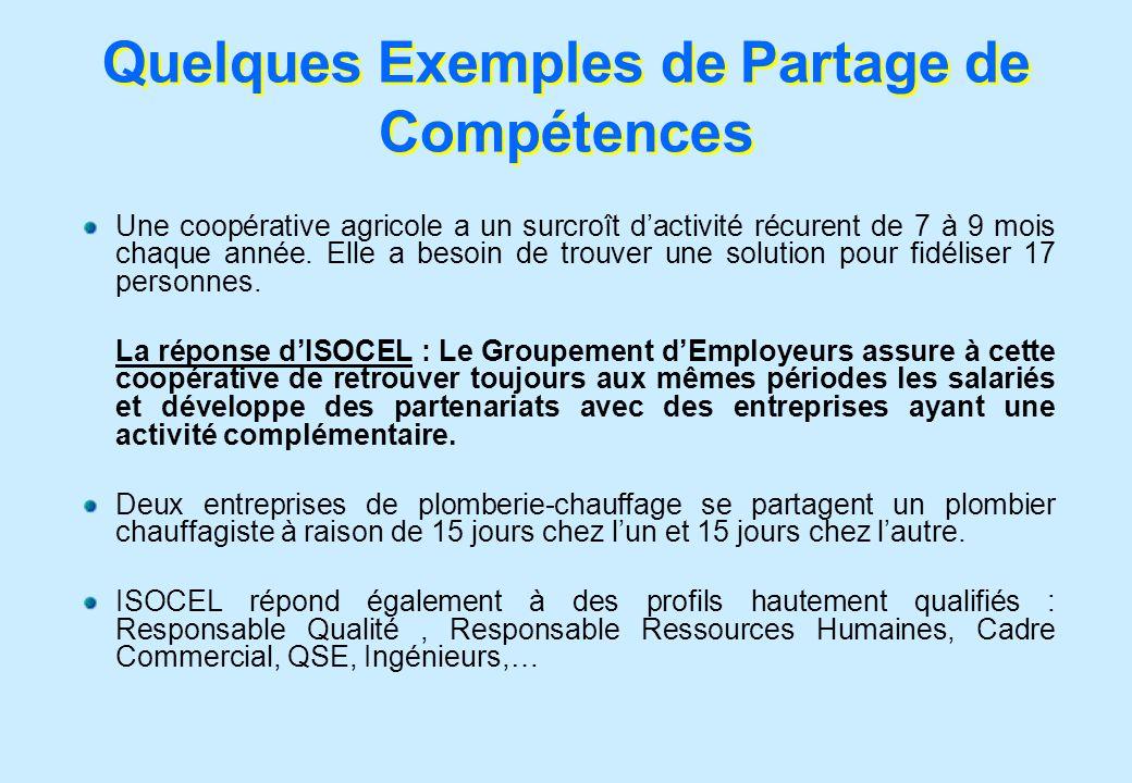 Quelques Exemples de Partage de Compétences
