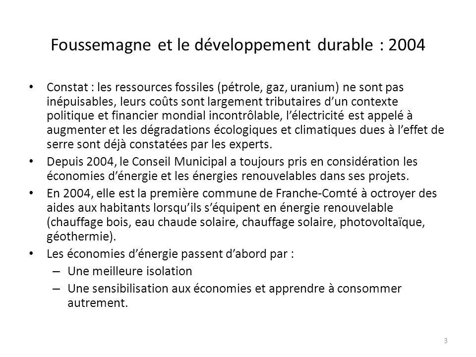 Foussemagne et le développement durable : 2004