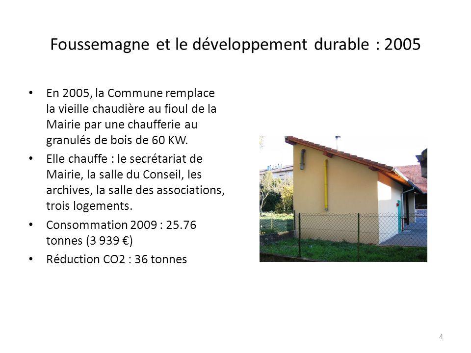 Foussemagne et le développement durable : 2005