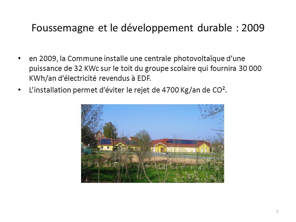 Foussemagne et le développement durable : 2009