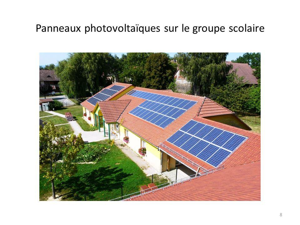 Panneaux photovoltaïques sur le groupe scolaire