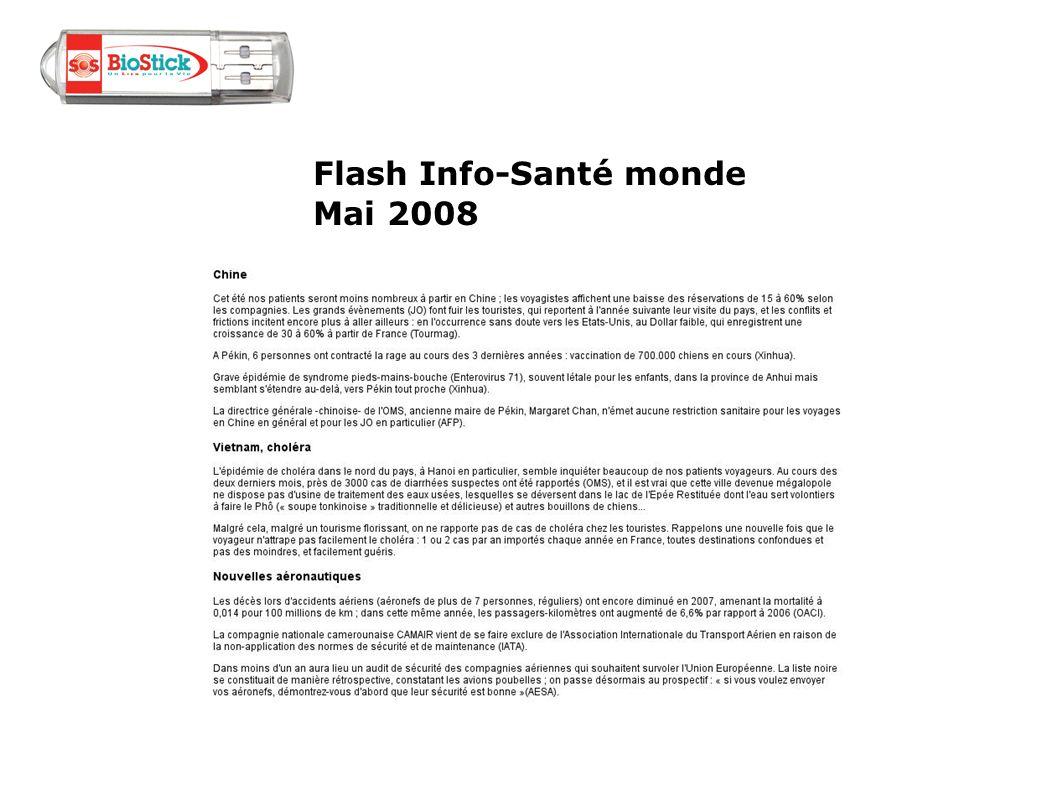 Flash Info-Santé monde