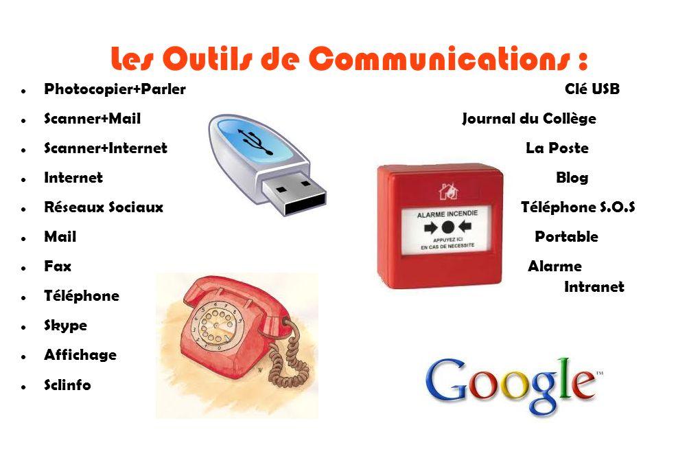 Les Outils de Communications :
