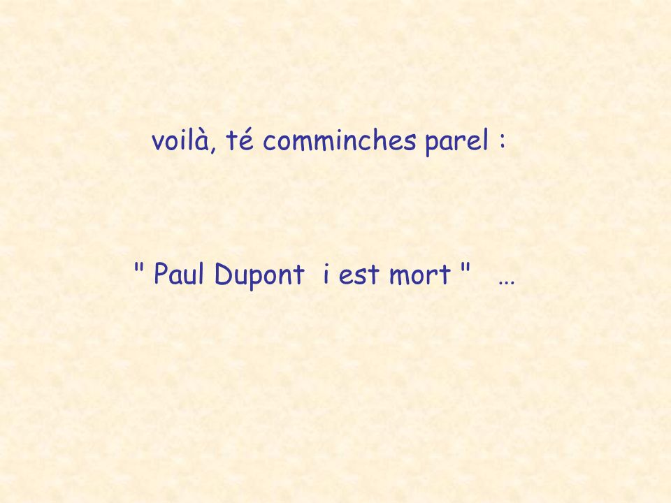 voilà, té comminches parel :