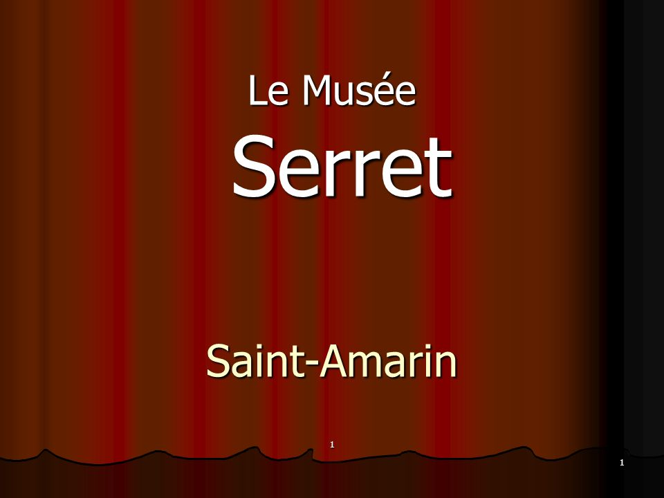 Le Musée Serret Saint-Amarin 1