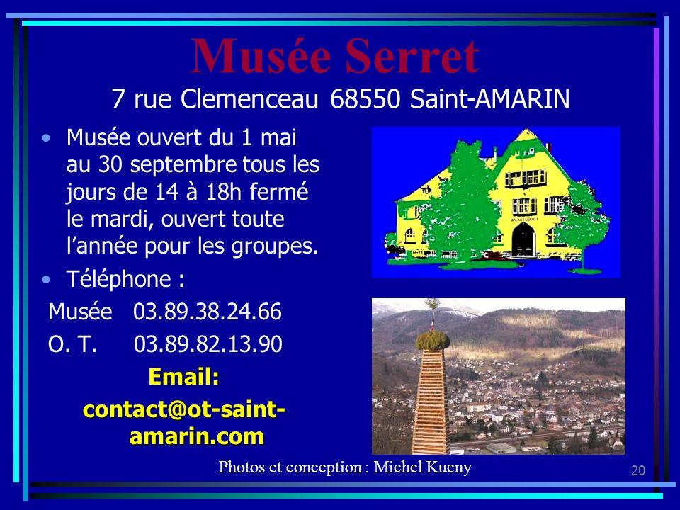 Musée Serret 7 rue Clemenceau 68550 Saint-AMARIN