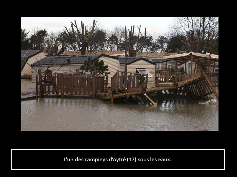 L'un des campings d'Aytré (17) sous les eaux.