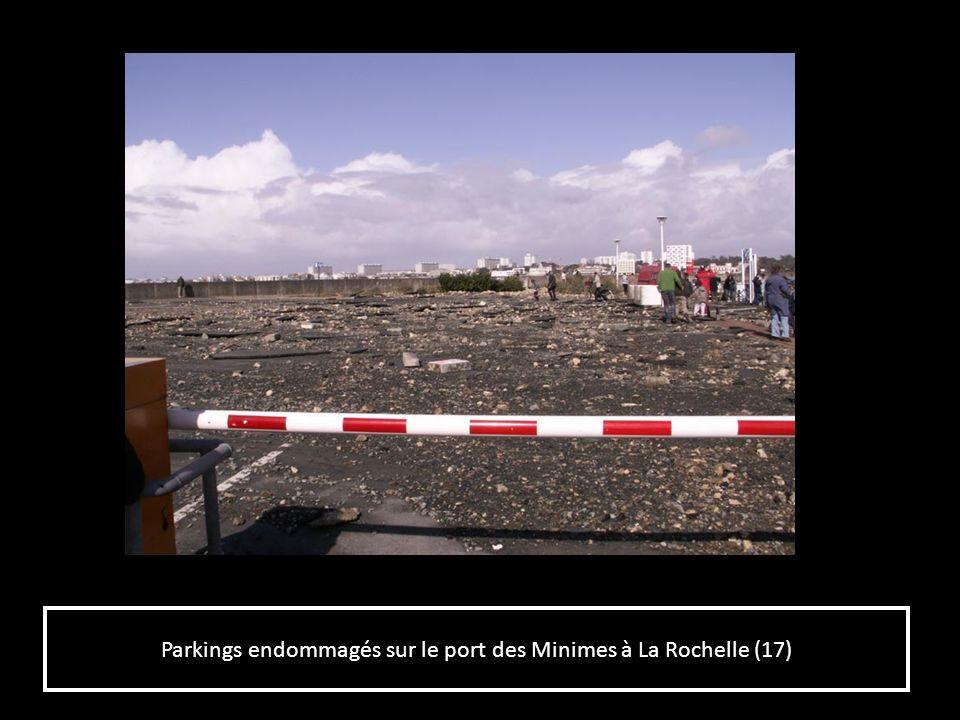 Parkings endommagés sur le port des Minimes à La Rochelle (17)