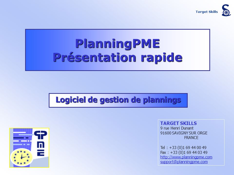 Logiciel de gestion de plannings