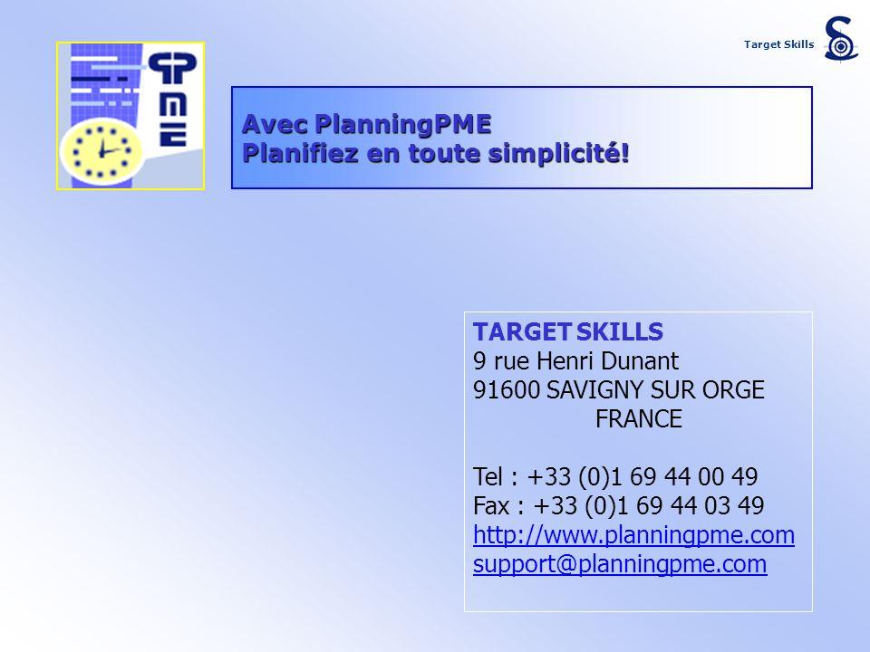 Planifiez en toute simplicité!