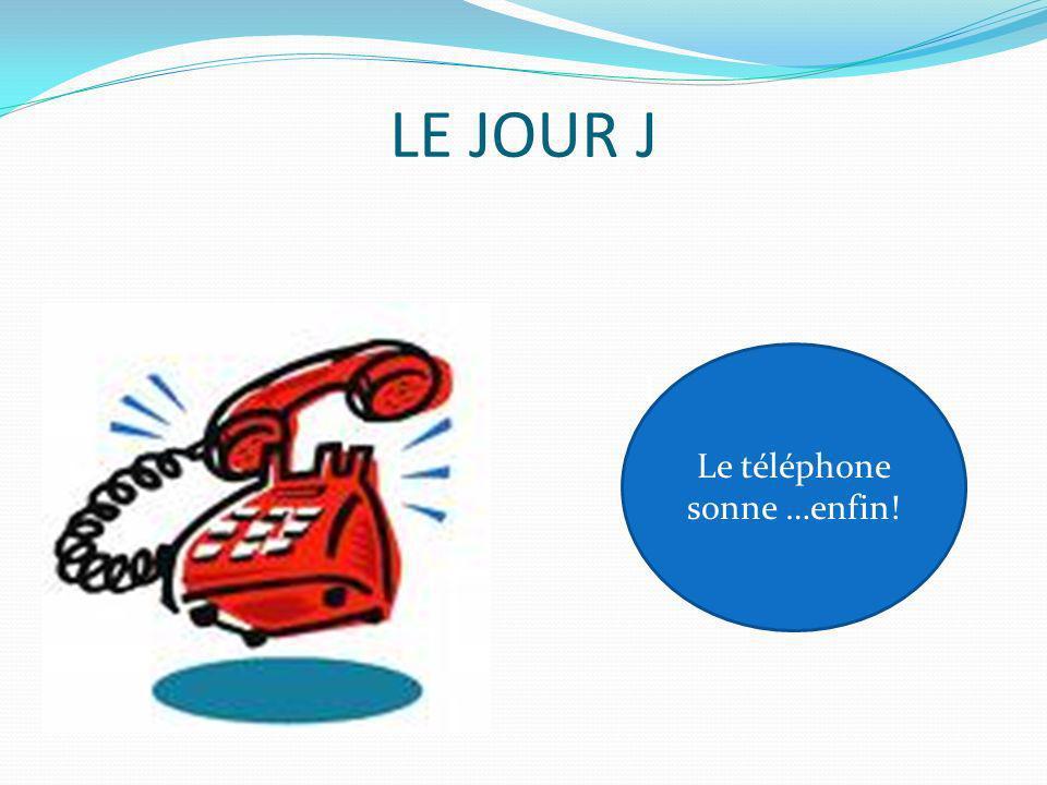 LE JOUR J Le téléphone sonne …enfin! Le Téléphone sonne…enfin!