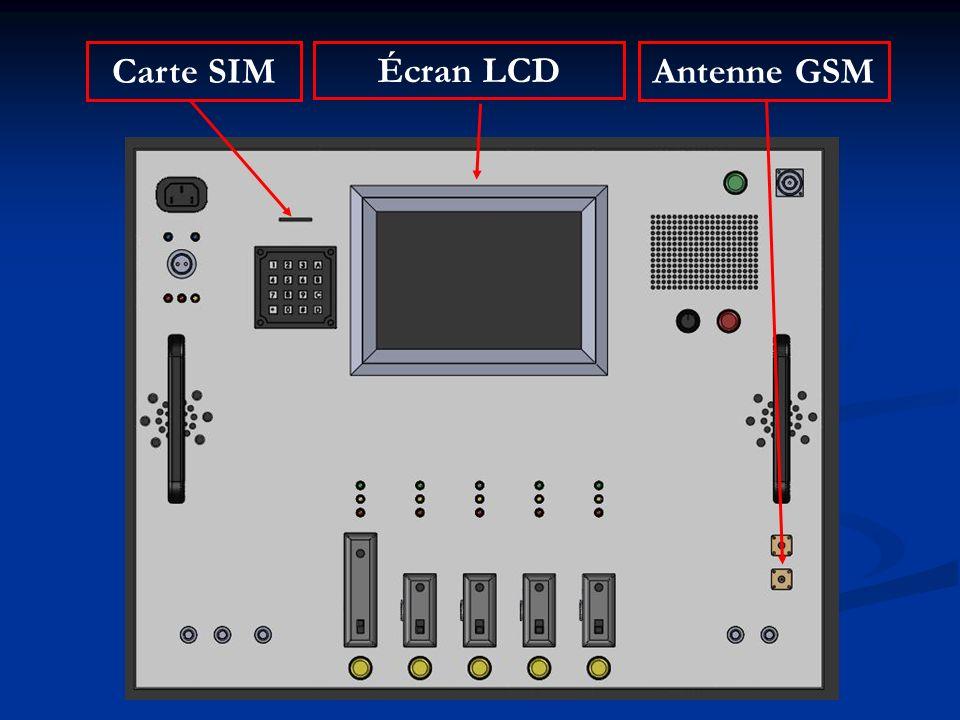 Carte SIM Écran LCD Antenne GSM