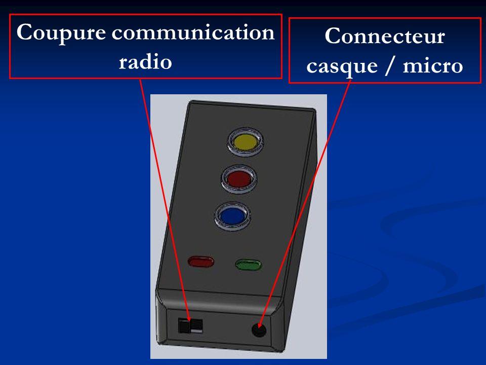Coupure communication Connecteur casque / micro