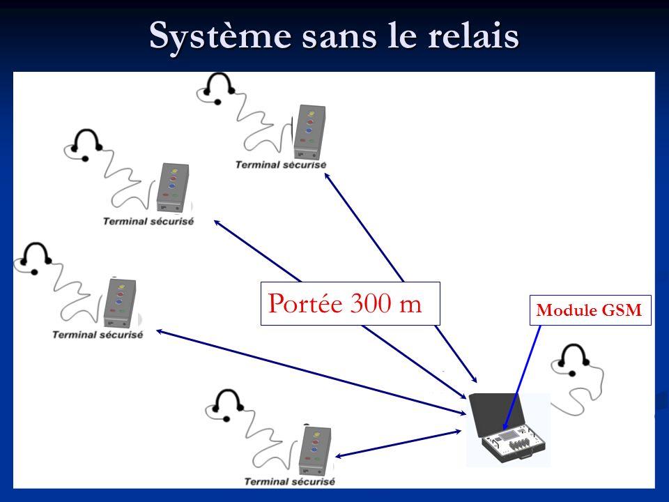 Système sans le relais Portée 300 m Module GSM