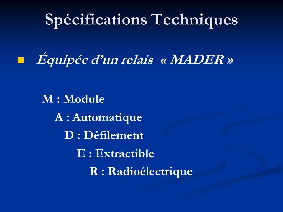 Spécifications Techniques