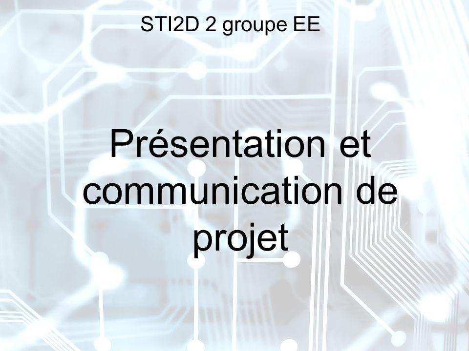 Présentation et communication de projet