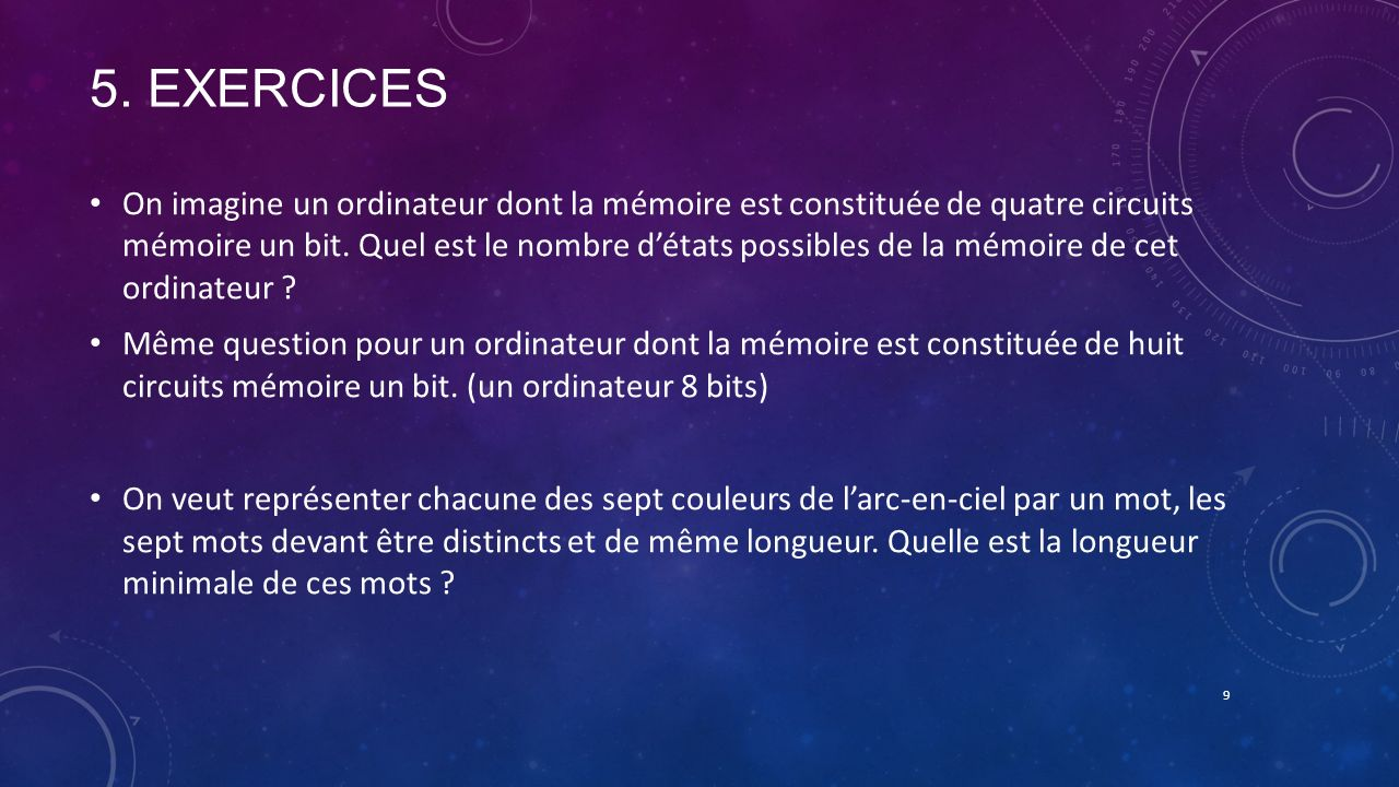 5. ExerciceS