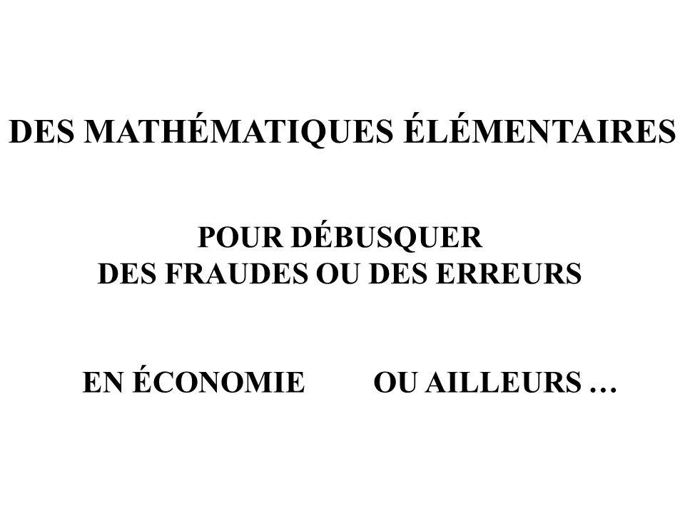Des mathématiques élémentaires