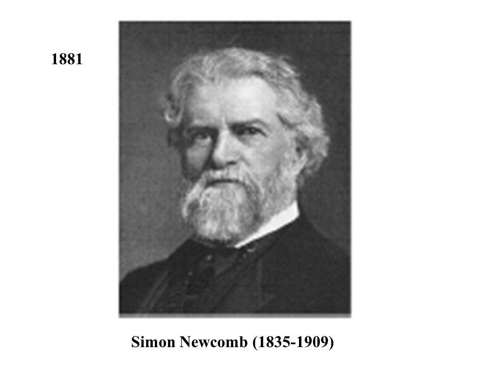 1881 Simon Newcomb (1835-1909)