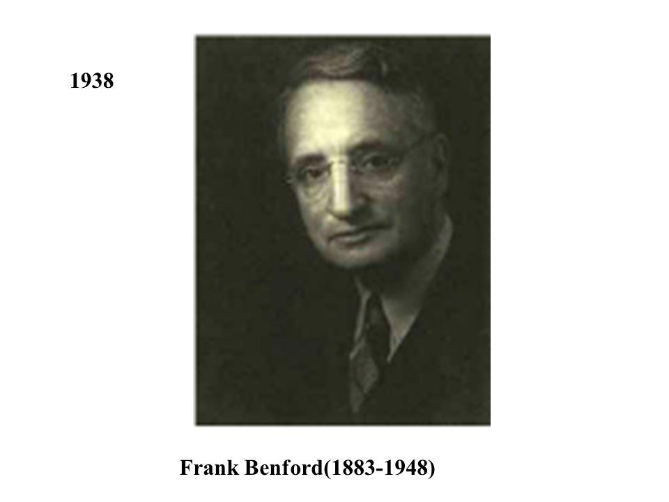 1938 Frank Benford(1883-1948)
