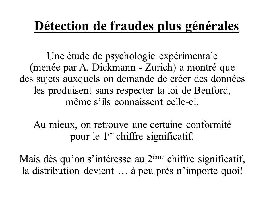 Détection de fraudes plus générales