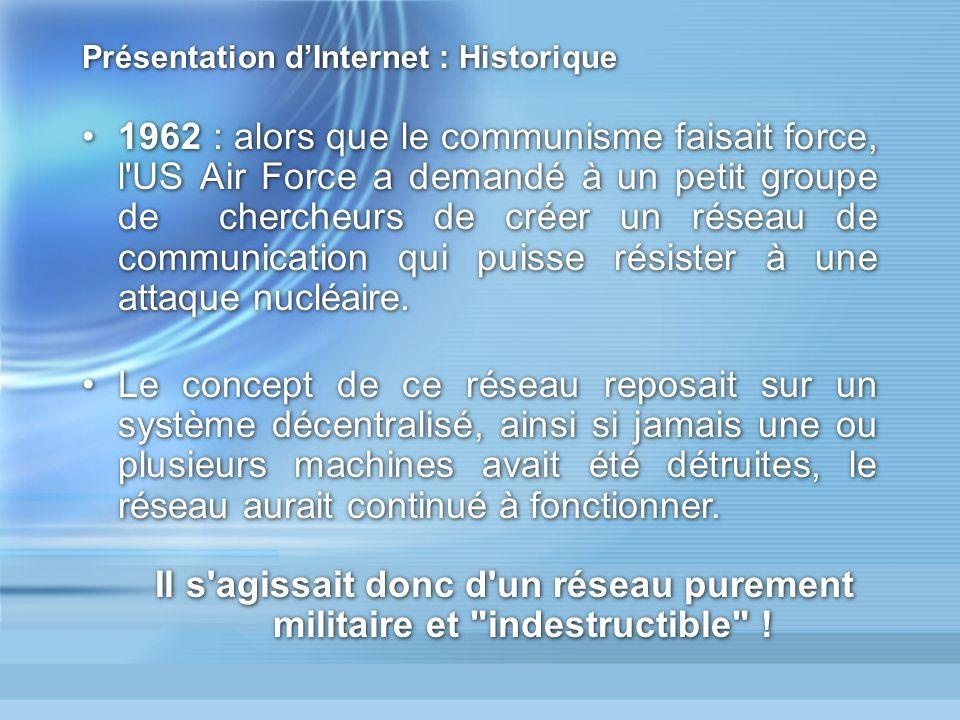 Présentation d'Internet : Historique