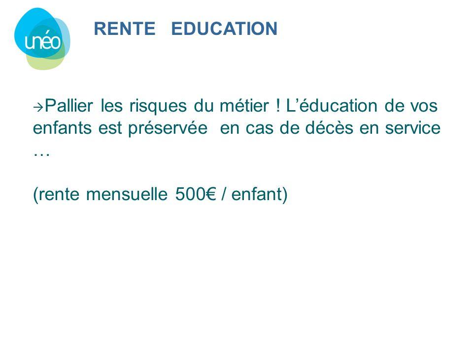 (rente mensuelle 500€ / enfant)