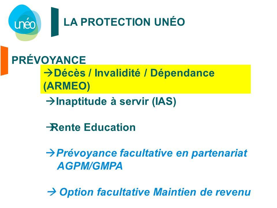 Décès / Invalidité / Dépendance (ARMEO)