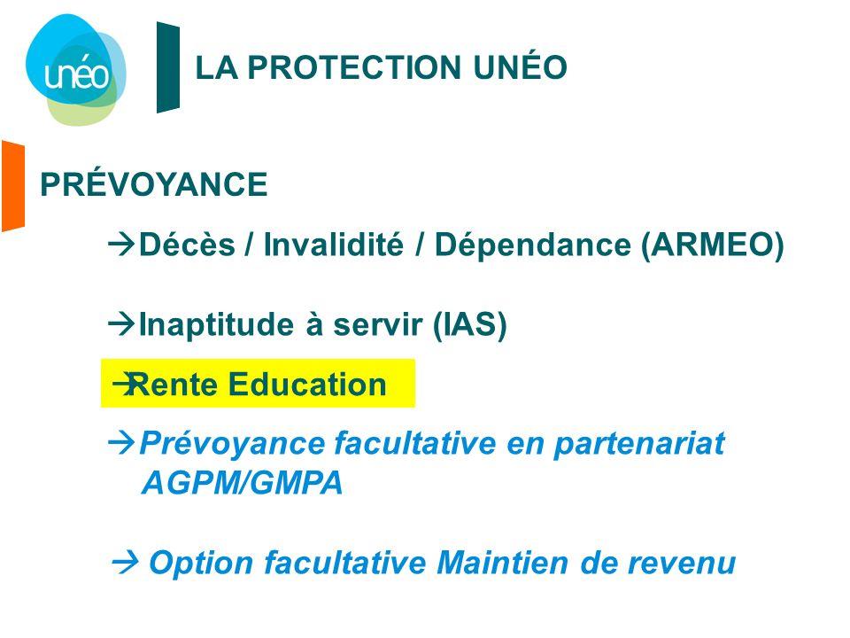 Décès / Invalidité / Dépendance (ARMEO) Inaptitude à servir (IAS)