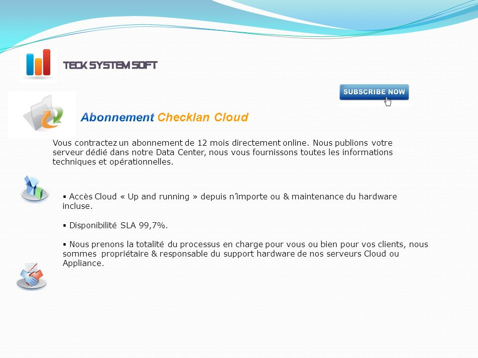 Abonnement Checklan Cloud