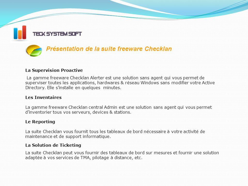 Présentation de la suite freeware Checklan