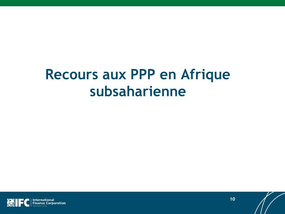 Recours aux PPP en Afrique subsaharienne