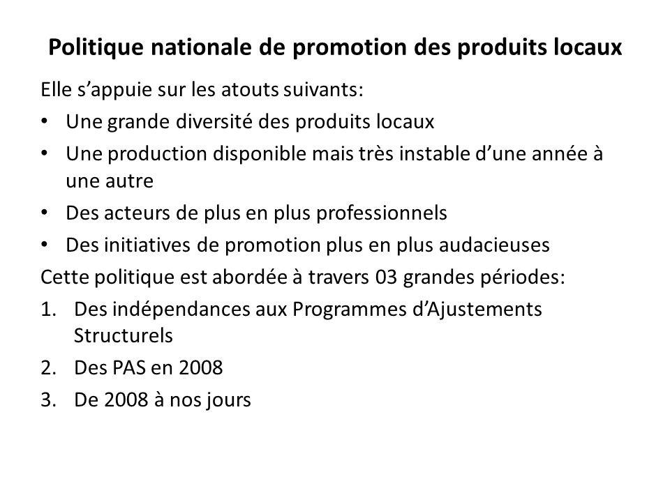 Politique nationale de promotion des produits locaux
