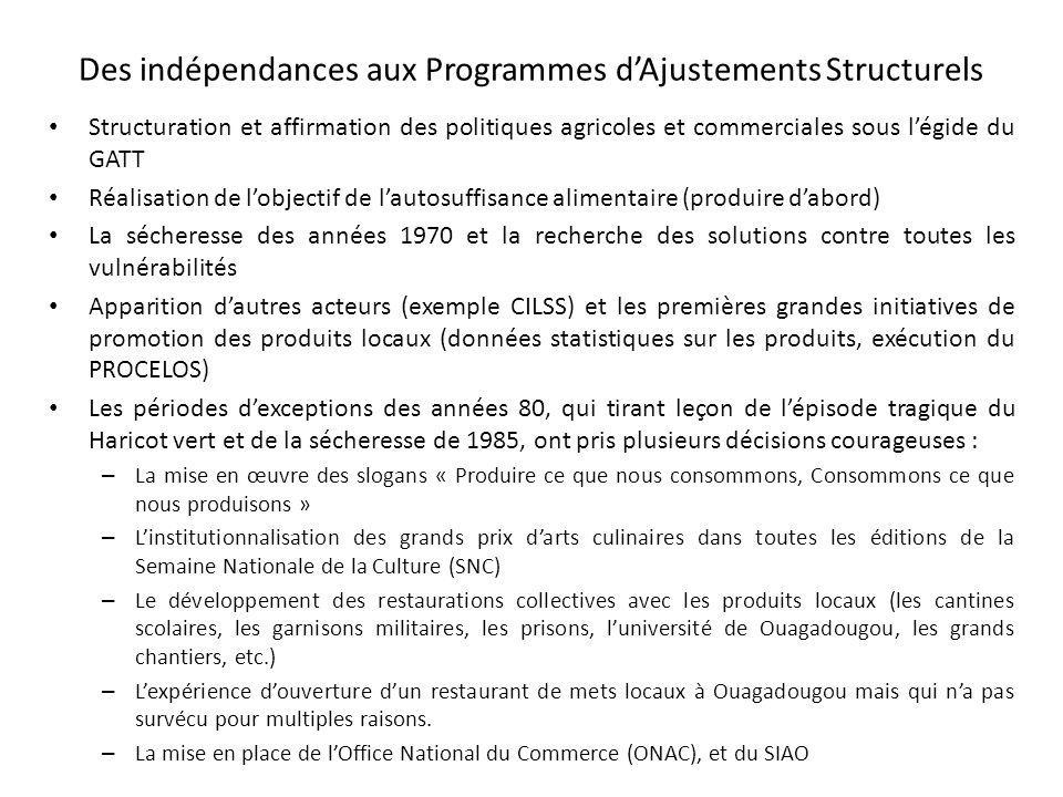 Des indépendances aux Programmes d'Ajustements Structurels