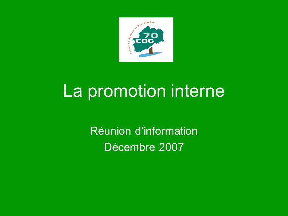 Réunion d'information Décembre 2007