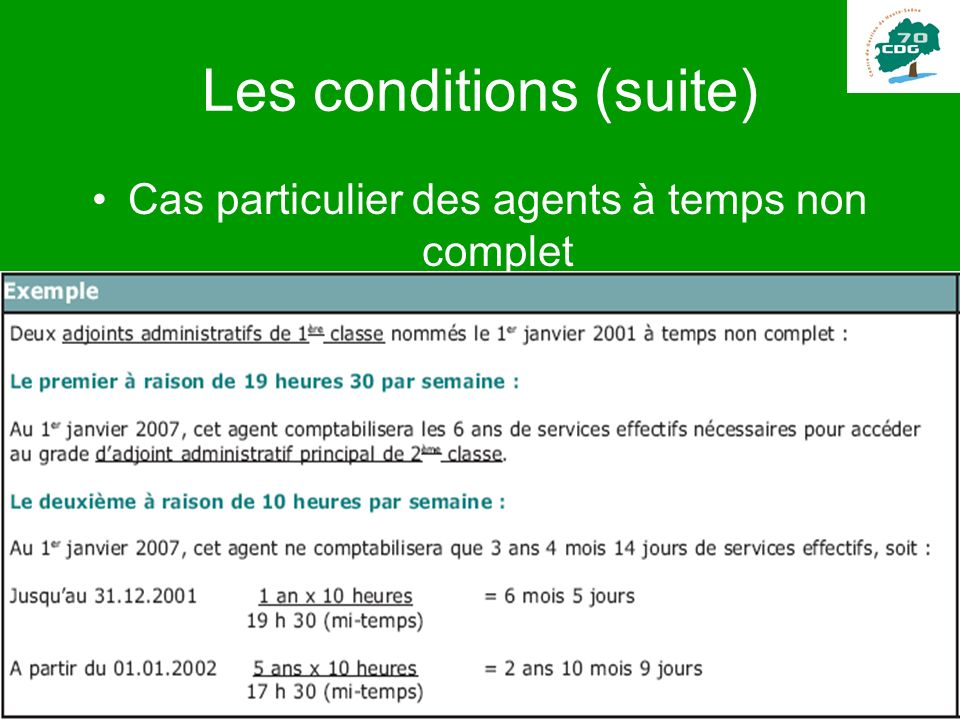 Les conditions (suite)