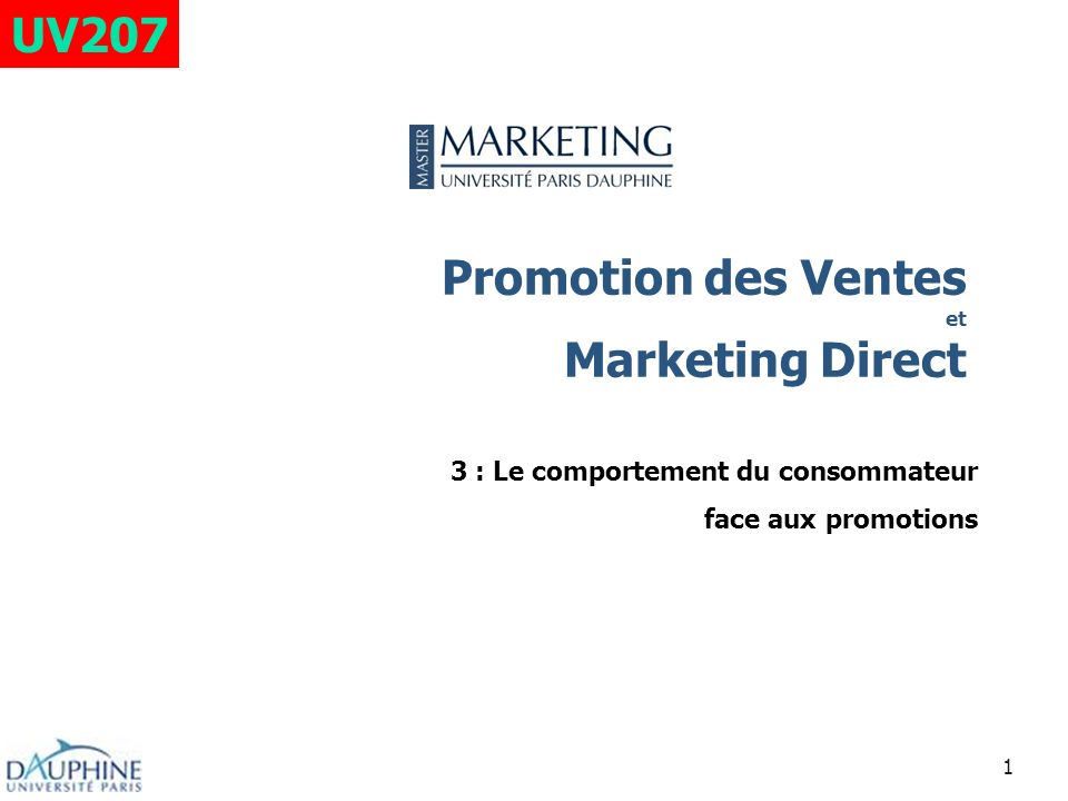 Promotion des Ventes et Marketing Direct
