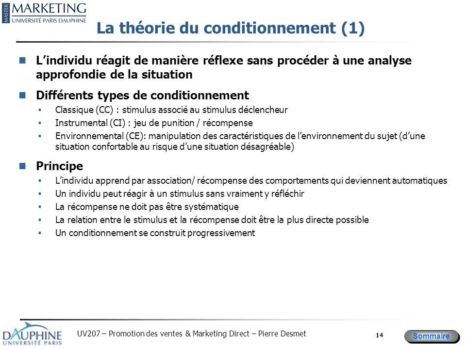 La théorie du conditionnement (1)