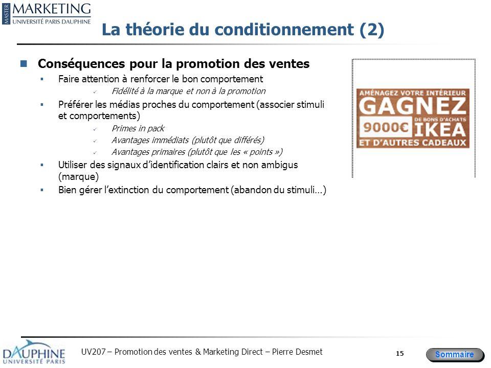 La théorie du conditionnement (2)