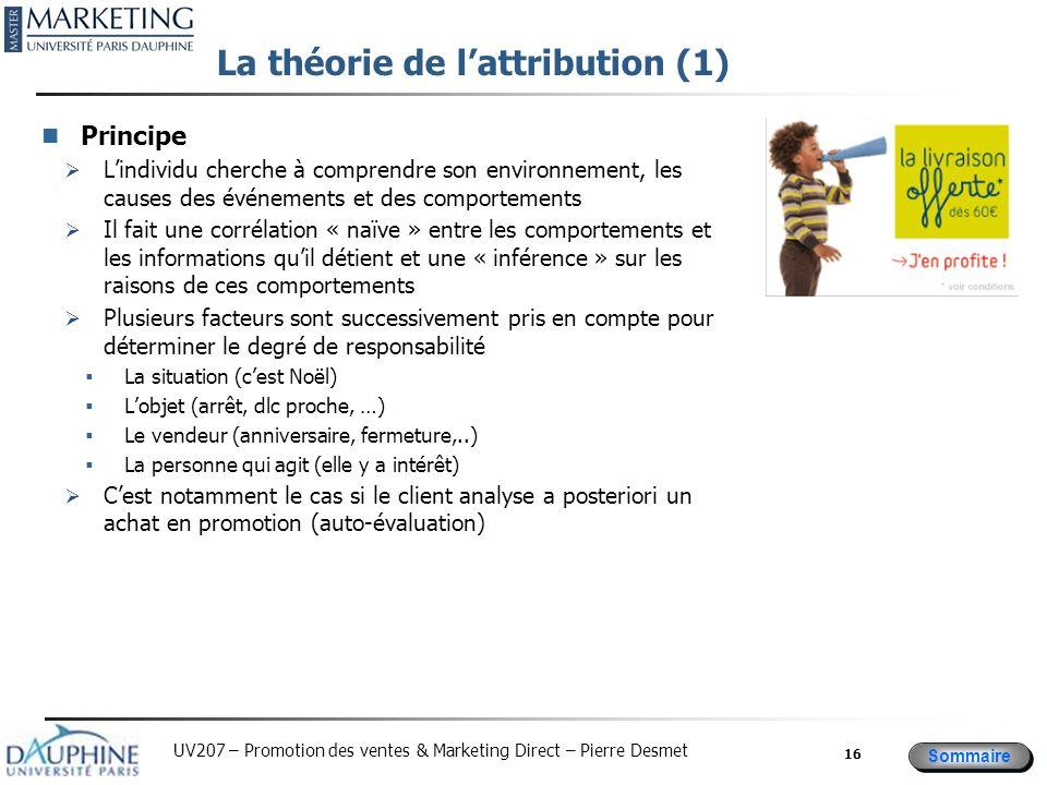 La théorie de l'attribution (1)
