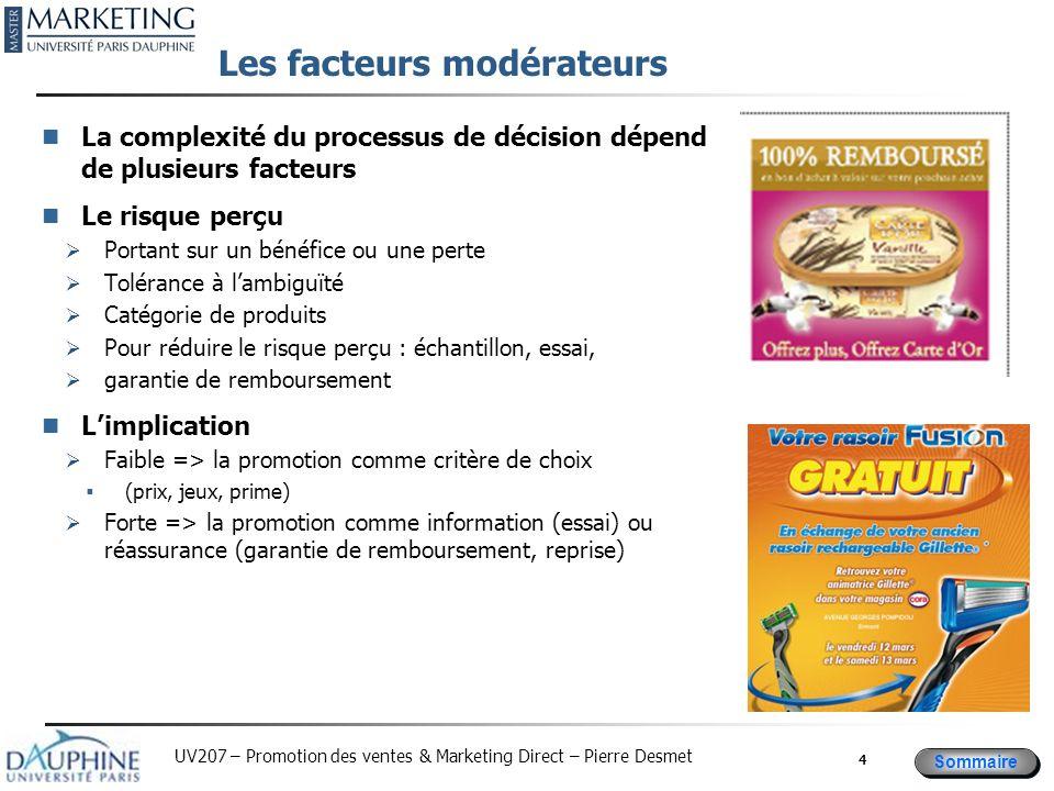Les facteurs modérateurs